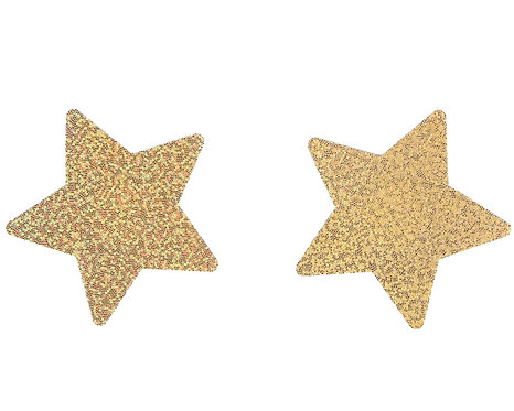 Sexy gold star nipple covers in Australian plus size lingerie boutique