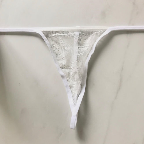White Lace G-String