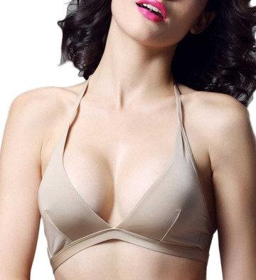 Sexy nude plus size lingerie bralette