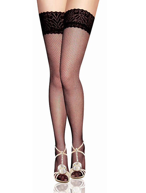 Sexy fishnet and lace sexy plus size stockings lingerie