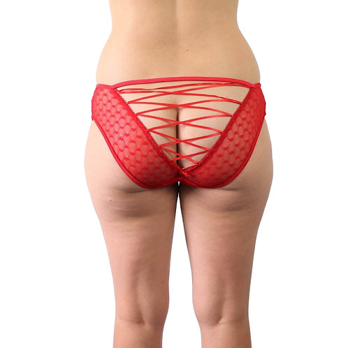 Sexy red lace strappy plus size lingerie underwear