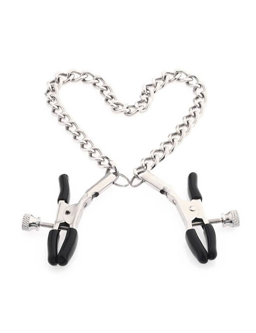 Silver Nipple Clamps With Chain