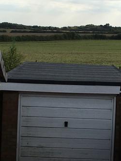 full green felt flat roof