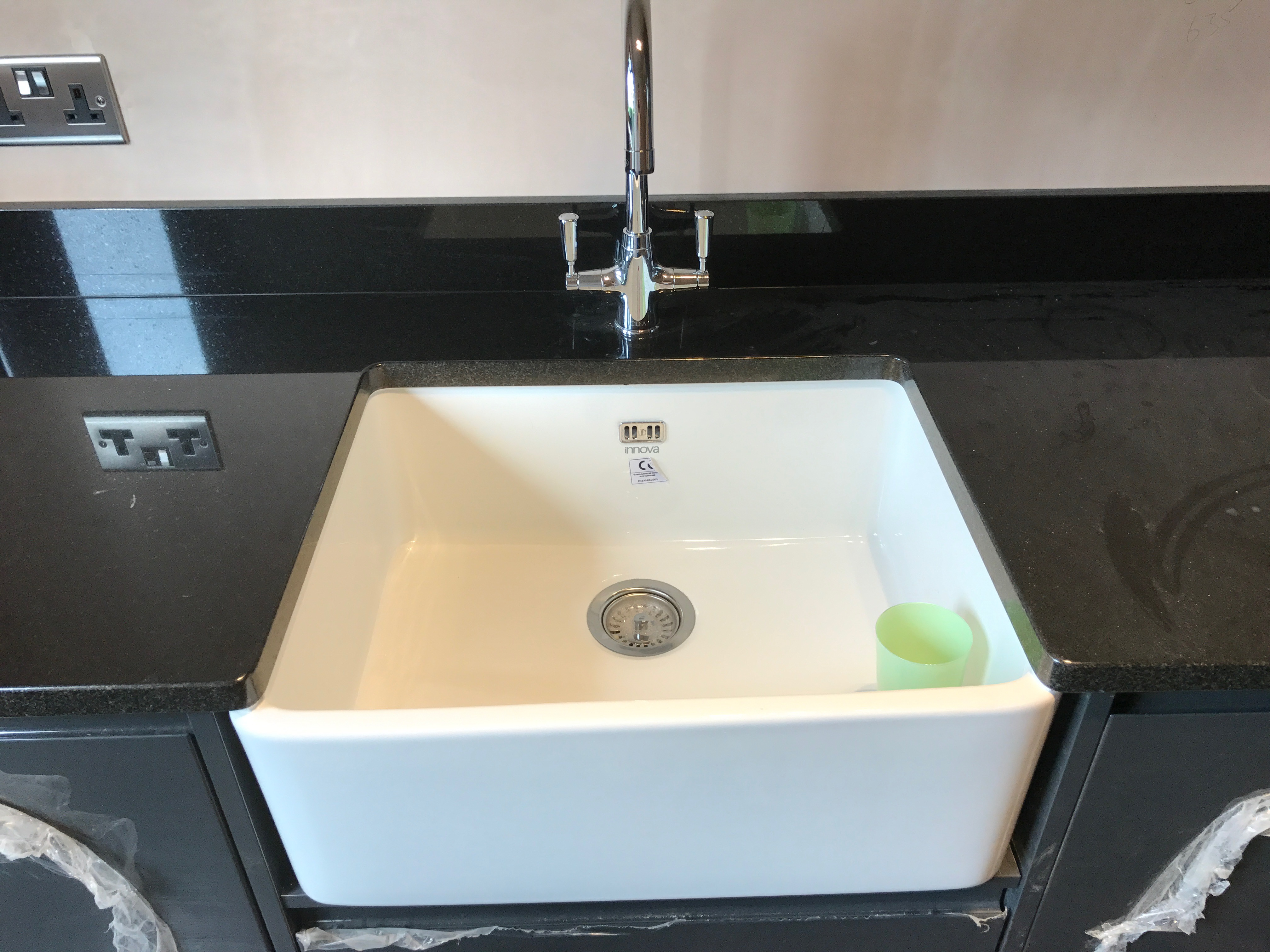 belfast sink fitted