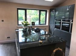 kitchen with own island