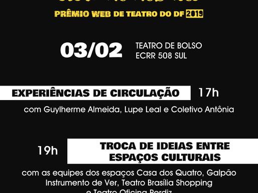CICLO DE DEBATES | Prêmio Web de Teatro do DF 2019