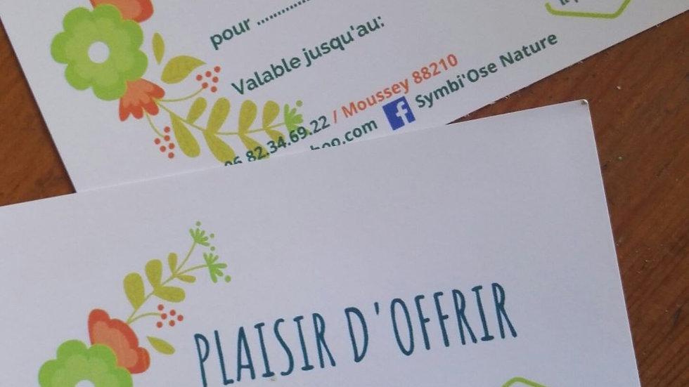 Carte cadeau Atelier de Cuisine Sauvage