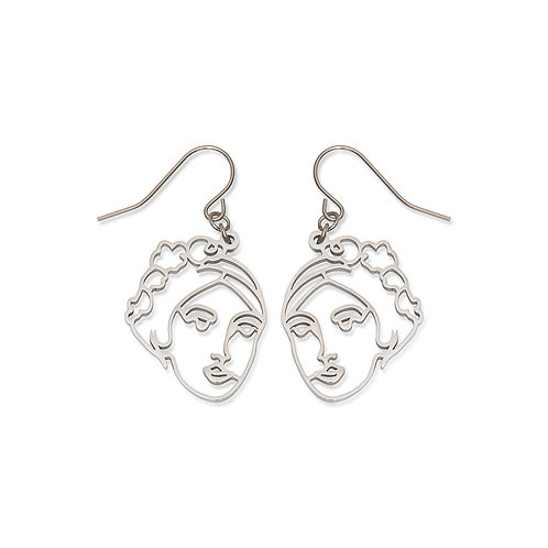 Persephone Face Earrings