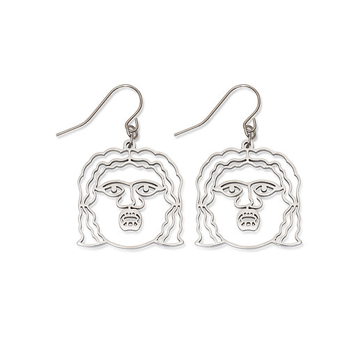 Mouth of Truth Face Earrings