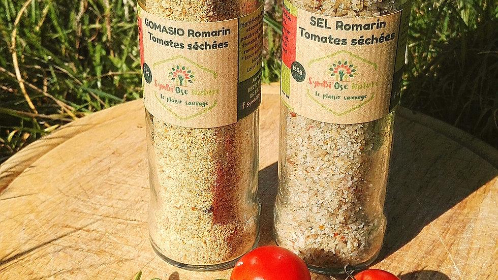 Sel et Gomasio Tomates séchées et romarin