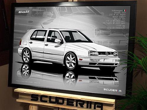 VW GOLF GLX MK3 - PERSPECTIVE