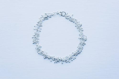 Full silver knot bracelet