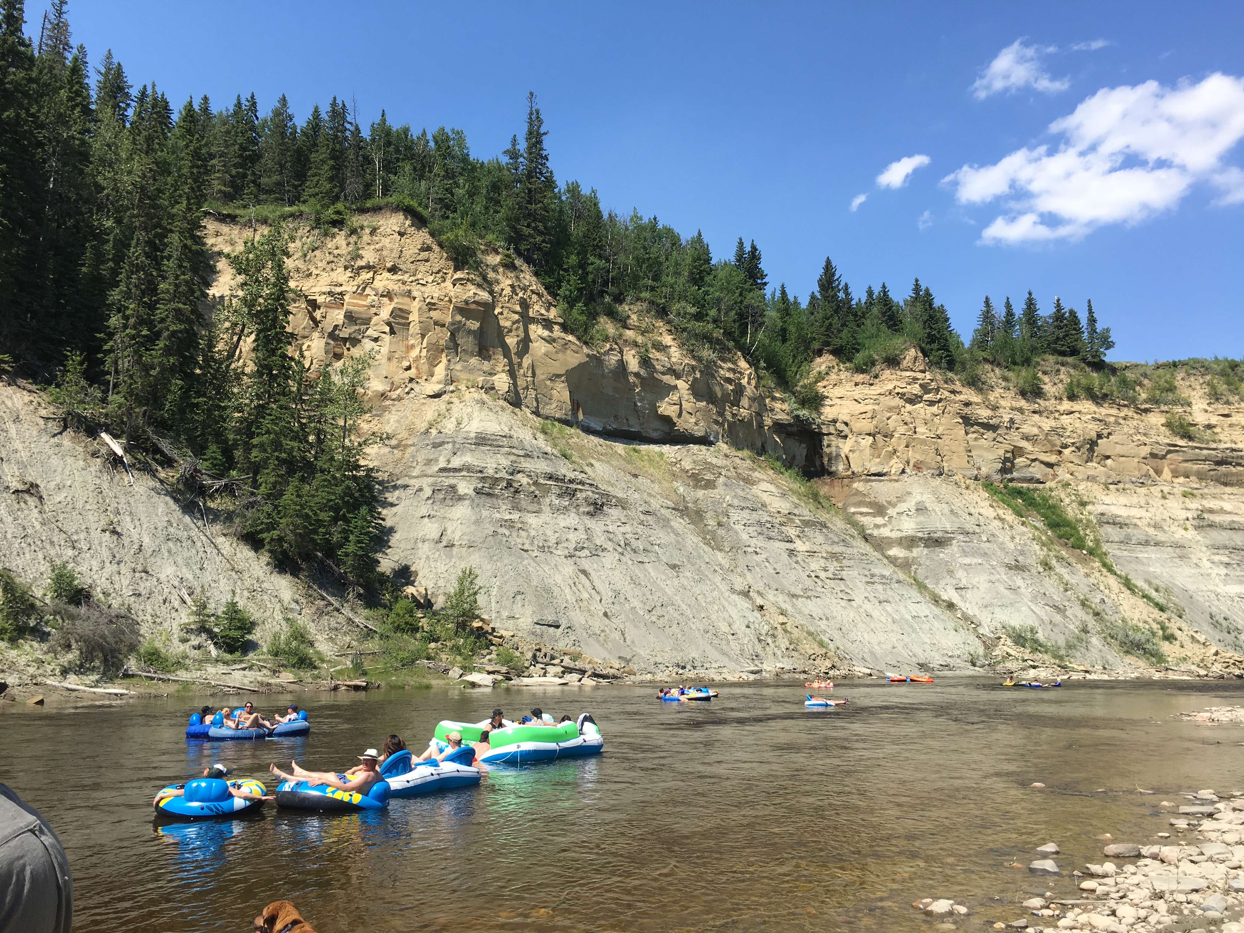 Family Camp at the Pembina River