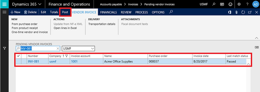 Vendor collaboration in dynamics 365 operations and finance
