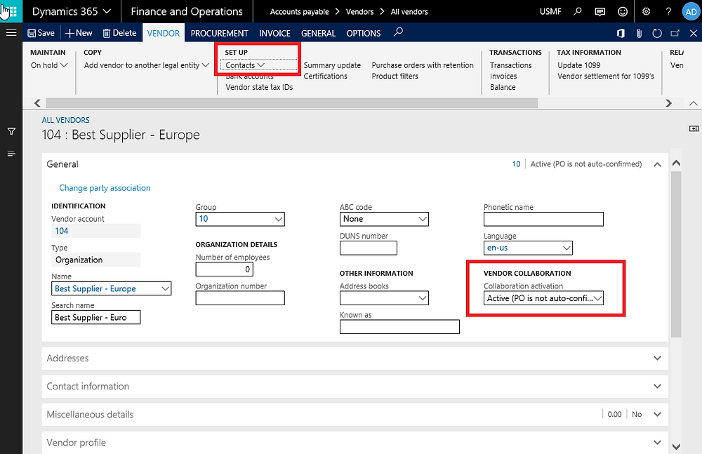 Vendor Collaboration, Vendor Portal