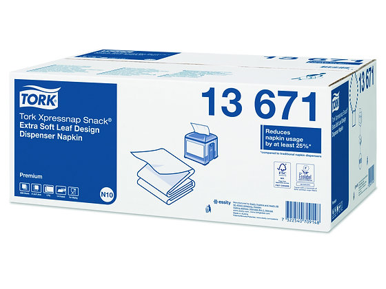 Tork Xpressnap Snack® Extra Soft Serviette pour distributeur, Blanc