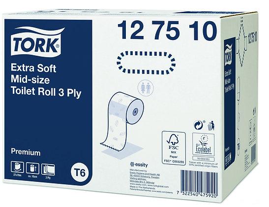 Tork Papier Toilette Rouleau Mid-size Extra Doux - 3 plis
