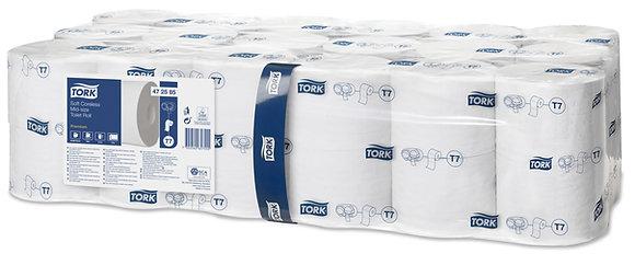 Tork Papier toilette rouleau doux Mid-Size sans mandrin Premium - 2 plis