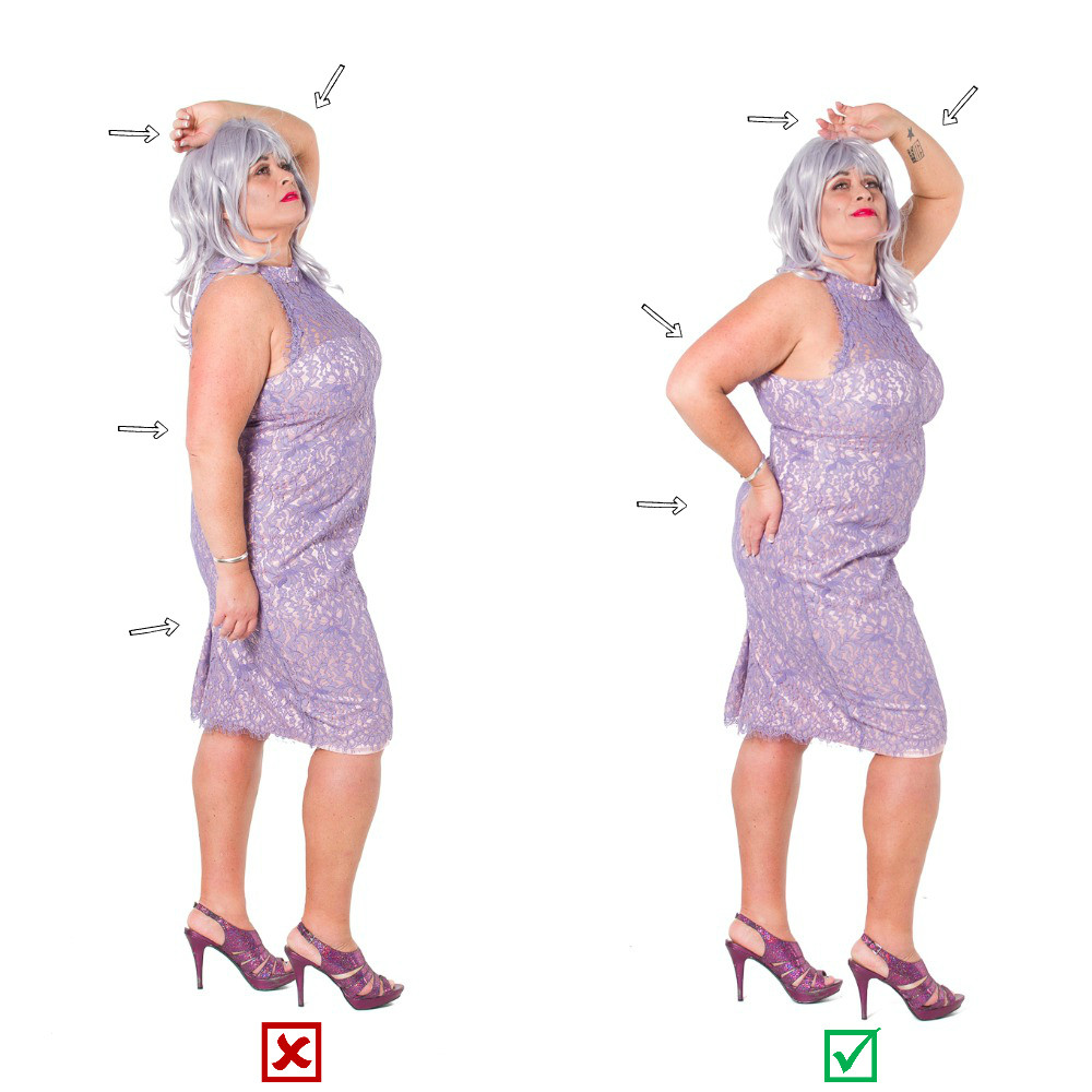 woman in dress and heels posing, posing guide, posing dos and dont's