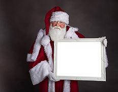 Santa holding empty picture frame sample