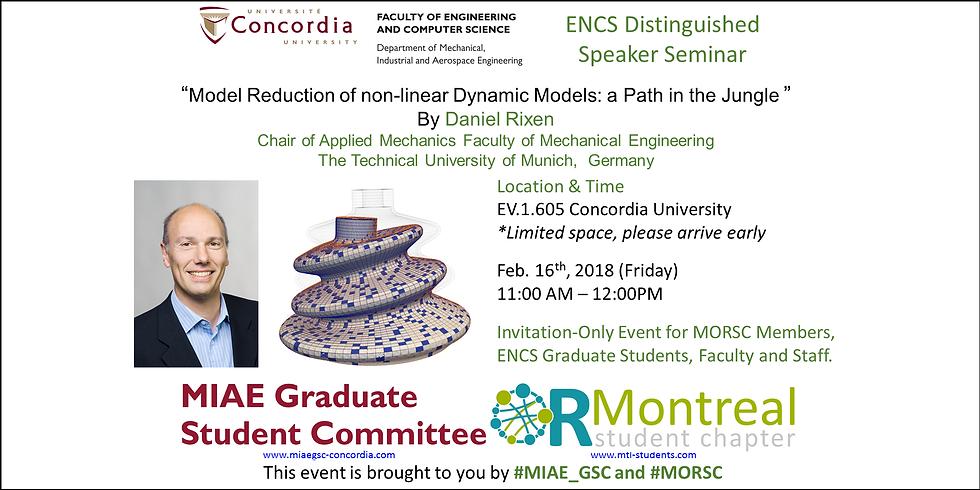 MIAE 2017-2018 Grad seminar 8 - ENCS Distinguished  Speaker