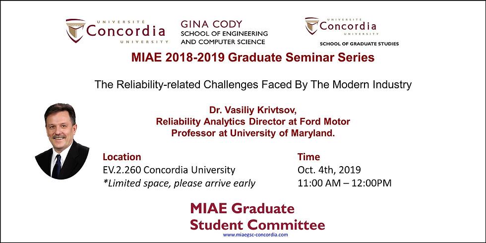 2019-2020 MIAE Graduate Seminar Series