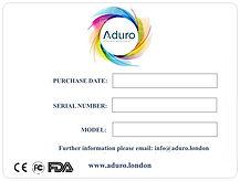 ADURO guarantee card back.jpg