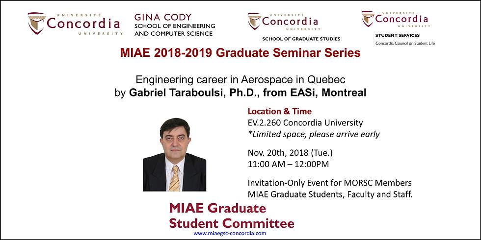 2018-2019 MIAE Graduate Seminar Series