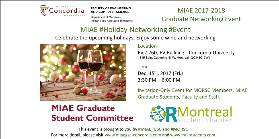 MIAE Department Holiday Networking Event