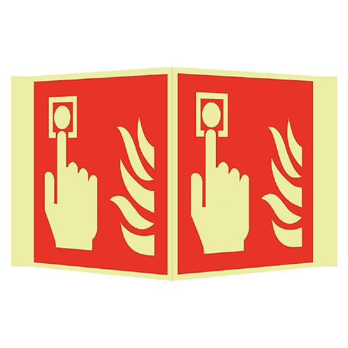 Brannskilt - Alarm plogskilt