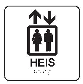Taktile piktogramskilt - Heis