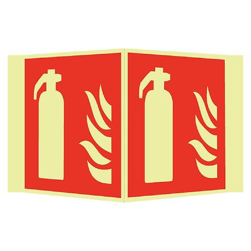 Brannskilt - Håndslukker plogskilt