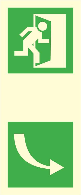 Nød- og rømningsskilt - Dørhåndtak (høyre)