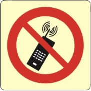 Forbudskilt - Mobiltelefon forbudt