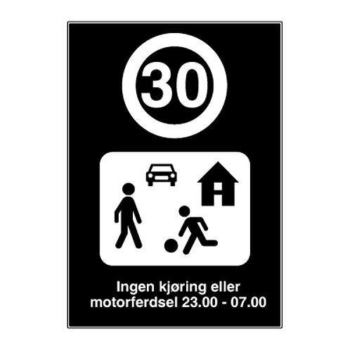 Private skilt - Ingen kjøring eller motorferdsel