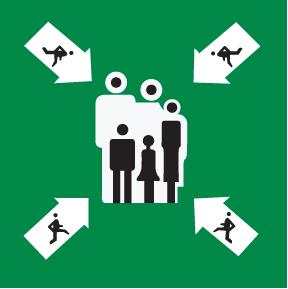Nød- og rømningsskilt - Møtepunkt