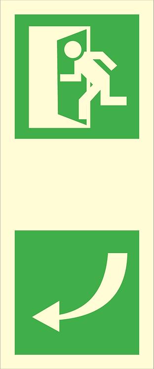Nød- og rømningsskilt - Dørhåndtak (venstre)