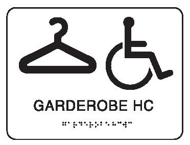 Taktile piktogramskilt - Garderobe HC