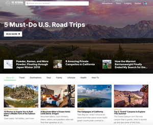 Screenshot of Stories page on The Outbound Collective website