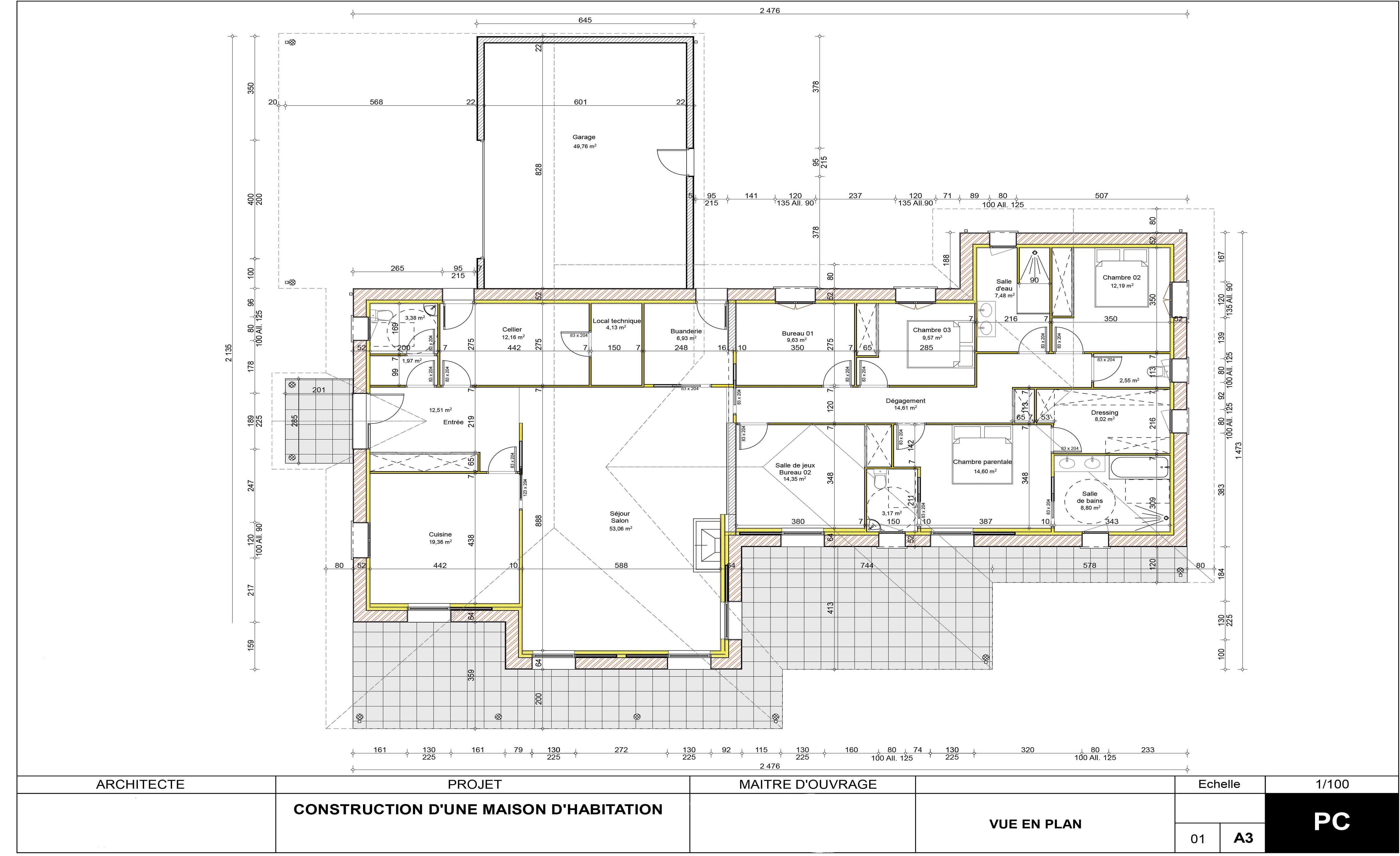 Construction maison 200m²