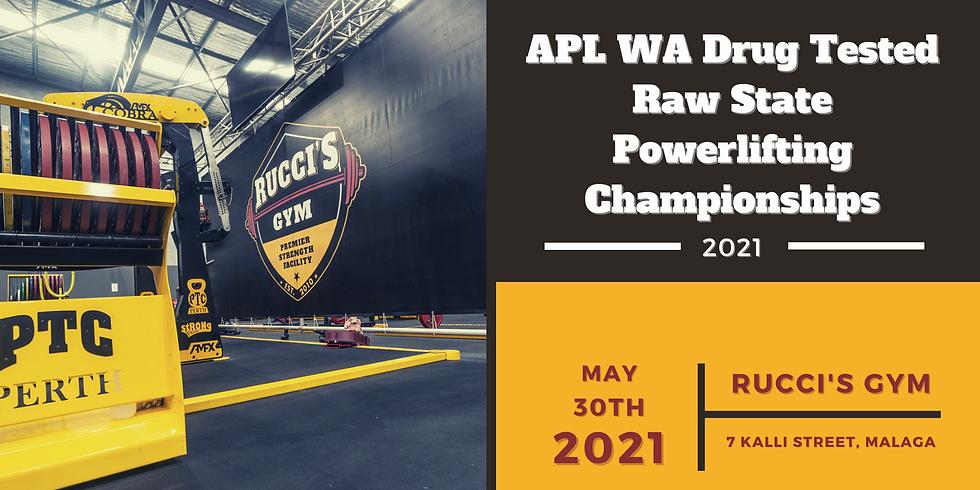 2021 APL WA Drug Tested Raw State Powerlifting Championships