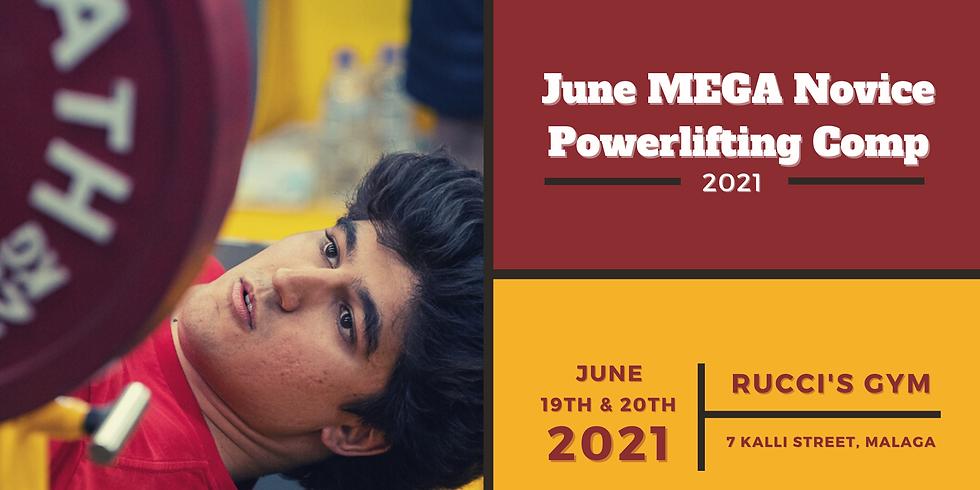 2021 June MEGA Novice Powerlifting Competition