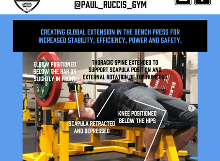 Creating GLOBAL EXTENSION in the Bench Press