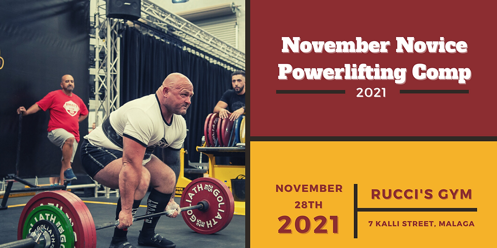 2021 November Novice Powerlifting Competition