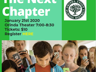 "Come see ""Screenagers: The Next Chapter"" at the Orinda Theater"