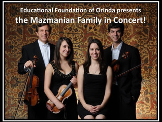 Mazmanian Family Concert to benefit EFO!