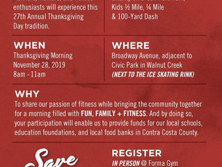 Support EFO at FormaGym's Turkey Trot