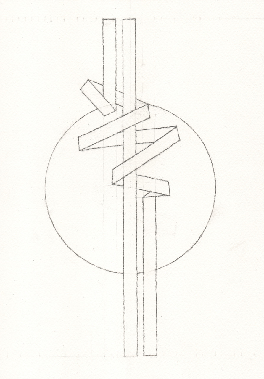 The first of 13 Full Moon inspired drawings for 2020 by fellow mooner and artist Mark Weighton