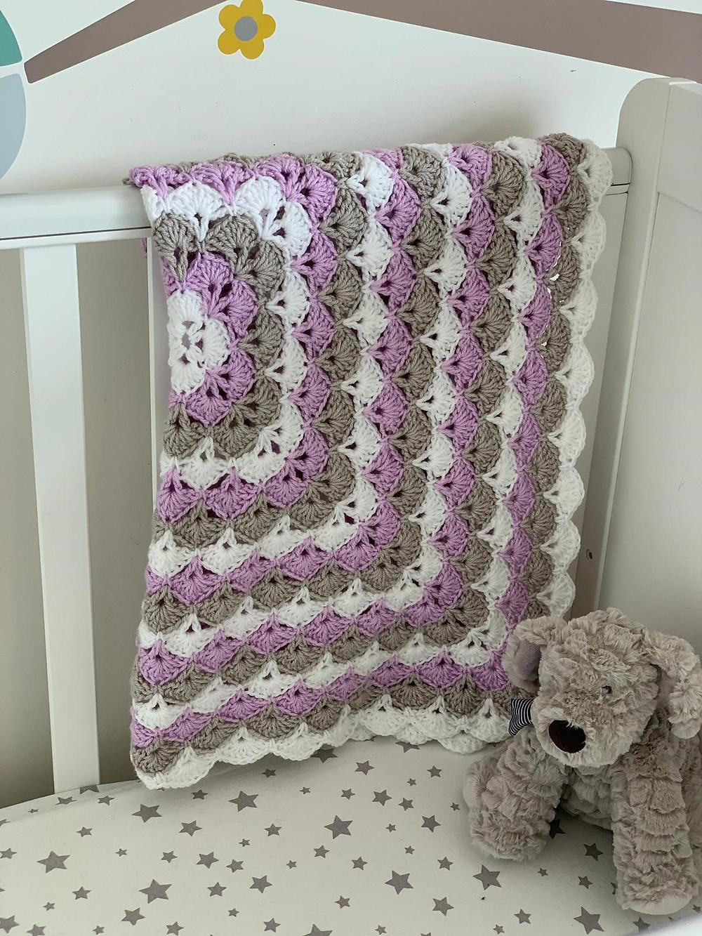 Baby Pato Shells Crochet Blanket Pattern by Cygnet Yarns