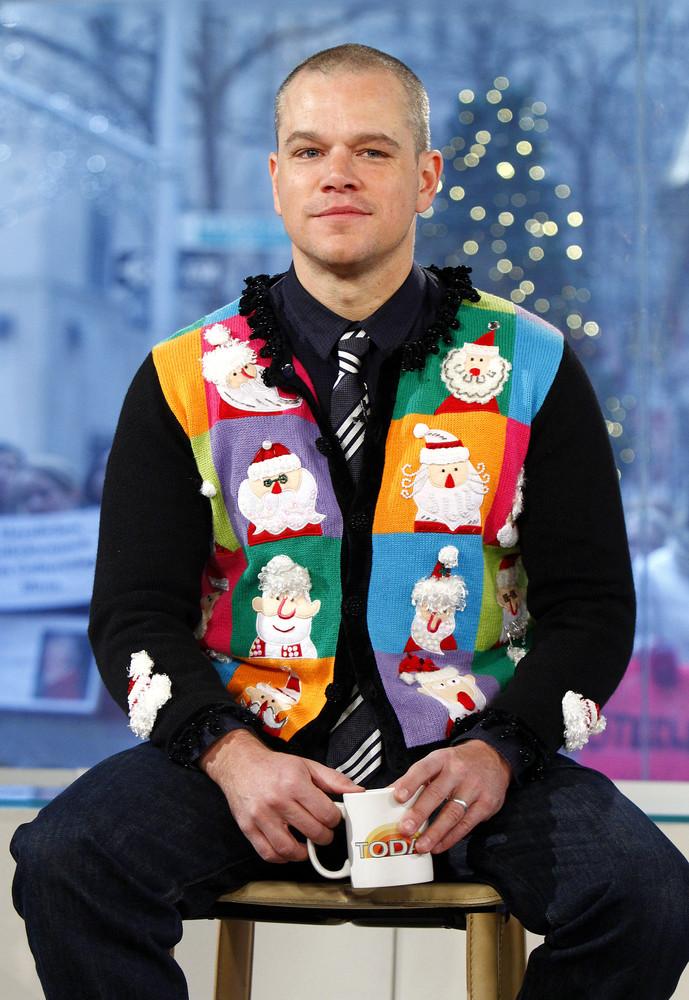 6. Matt Damon dressed as an advent calendar.